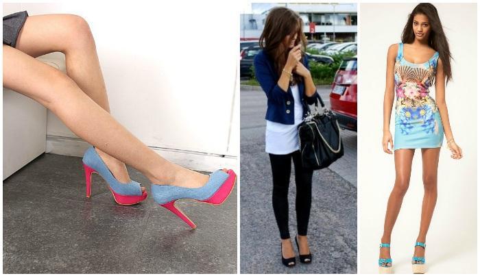 Туфли с открытым носом на моделях
