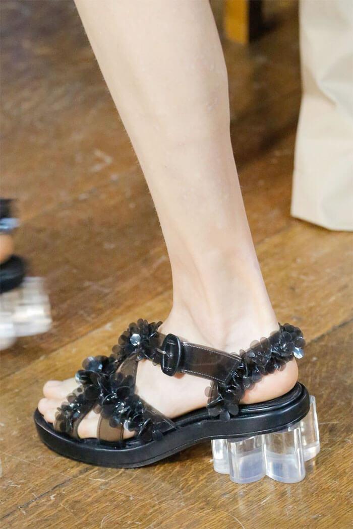 Туфли с прозрачным каблуком (Simone Rocha)