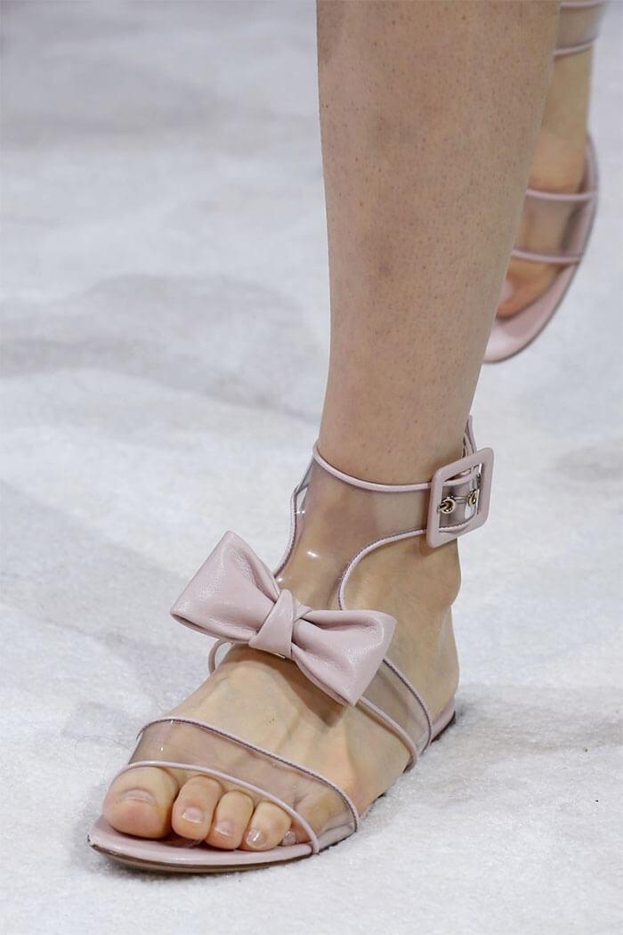 Туфли с прозрачными пластиковыми вставками (Valentino)