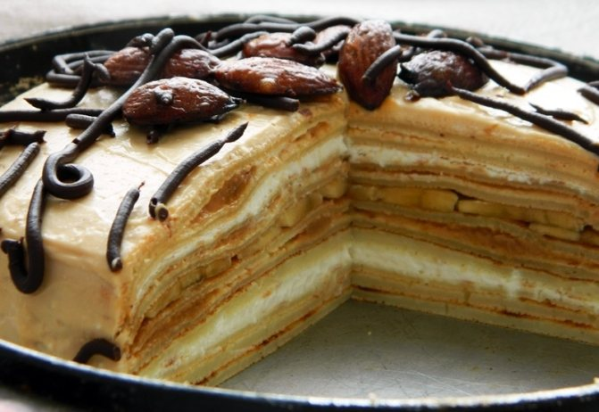 Творожной крем со сгущенкой для блинного торта