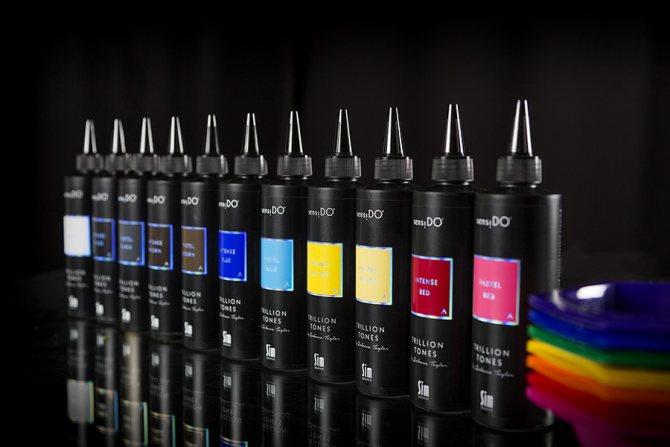 Тюбики краски для волос