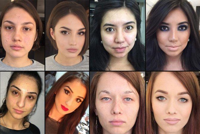 удачный макияж для фото на документы