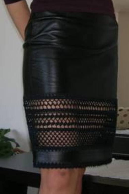 удлинить кожаную юбку