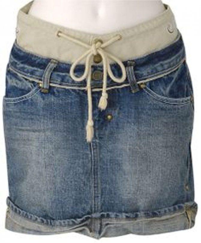 удлинить юбку с помощью кокетки