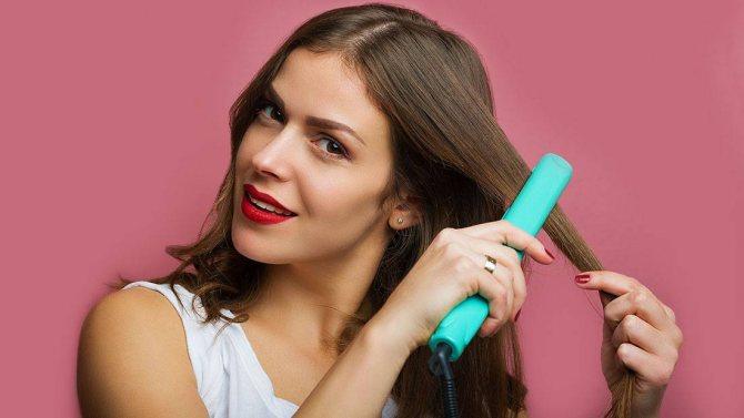 Укладка утюжком на средние волосы с объемом