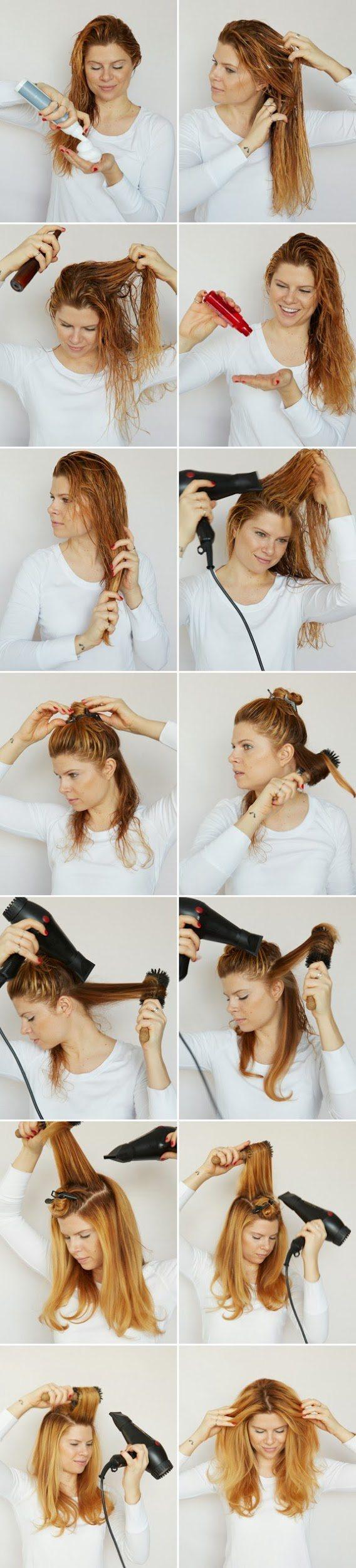Укладка волос феном в домашних условиях - пошаговая инструкция