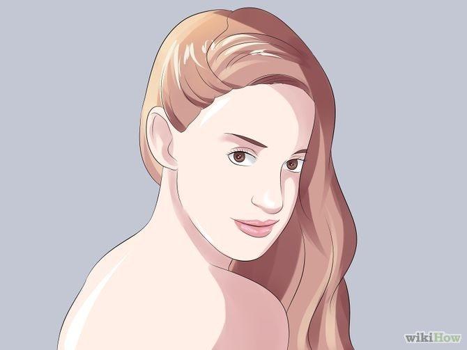 Укладка волос, скрывающая большой нос