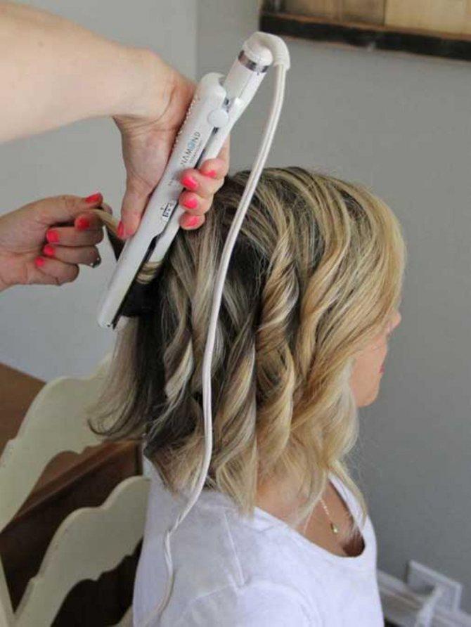 Укладка волос утюжком фото 4