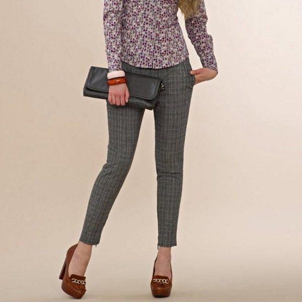 укороченные узкие брюки