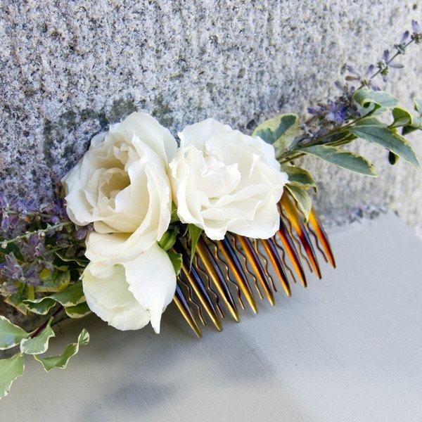 украшение из цветов для прически на свадьбу