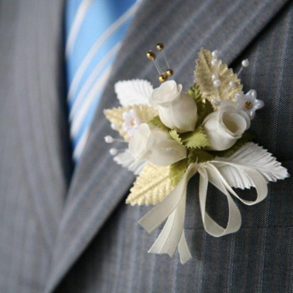 украшение на костюмдля свидетеля на свадьбе