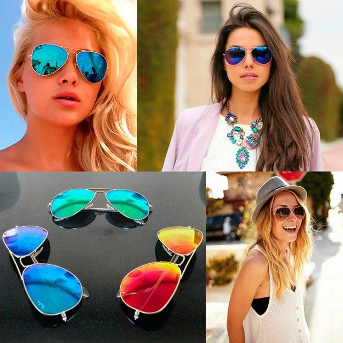 Универсальные солнцезащитные очки авиаторы продолжают оставаться модным трендом