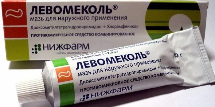 Упаковка мази Левомеколь