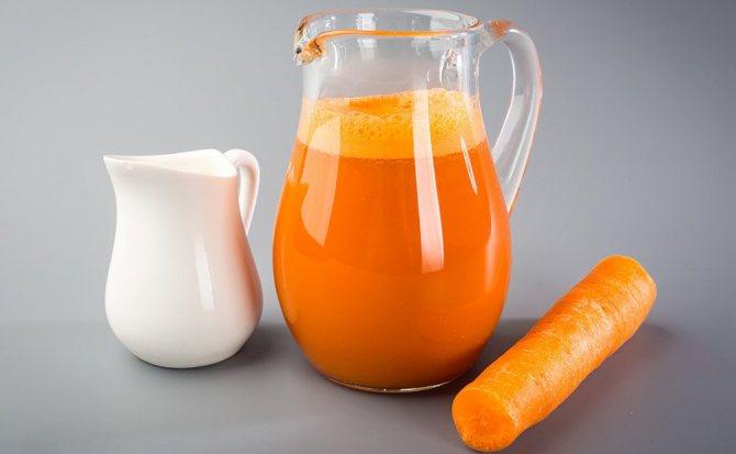 Употребление морковного сока
