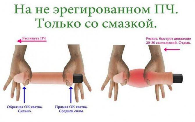 Упражнение для увеличения толщины полового члена