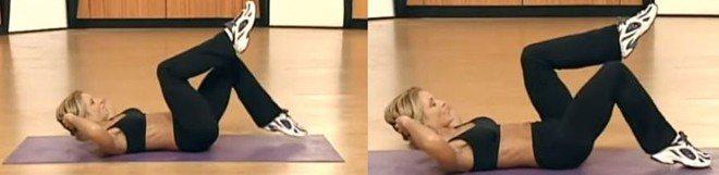 Упражнение касания носками