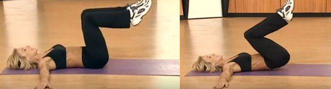 Упражнение подъем ног