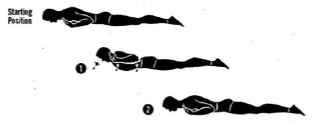 Упражнения для осанки. Прогибы из положения лёжа