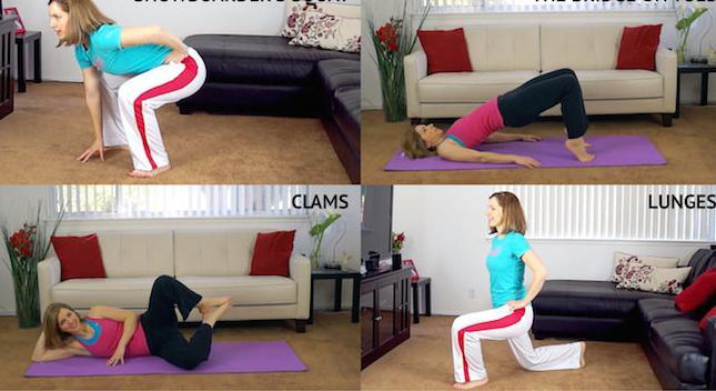 упражнения для упругой попы