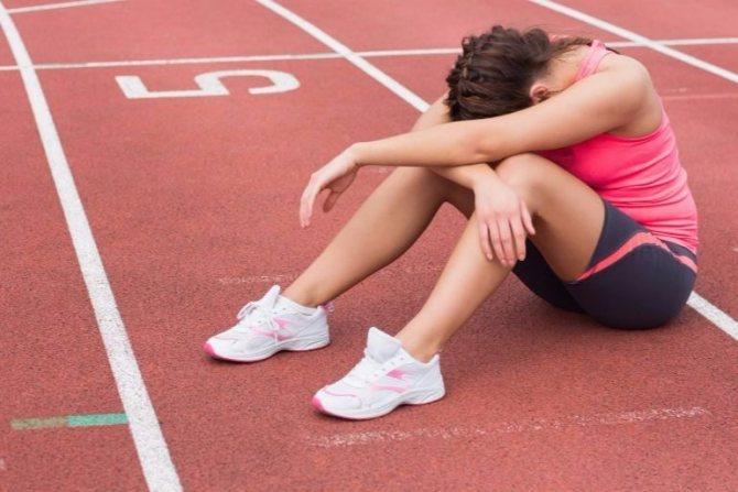 усталость от тренировок и здорового питания