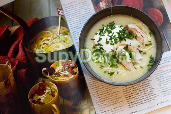 Утиный суп с печеным картофелем