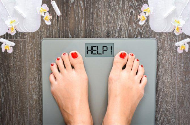 Увеличение веса при месячных
