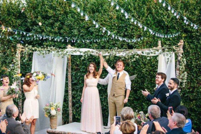 Уютная маленькая свадьба