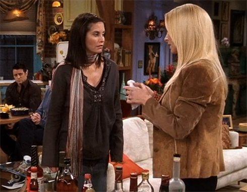 В 10 сезоне сериала Кортни Кокс уже была беременна