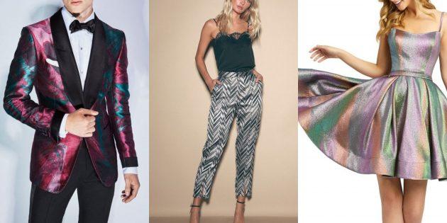 в чём встречать новый 2020 год: платья, юбки, брюки, рубашки в оттенках металлик