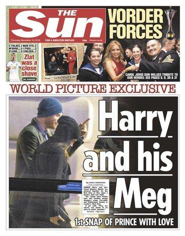 В декабре прошлого года появились первые совместные снимки принца Гарри и Меган Маркл
