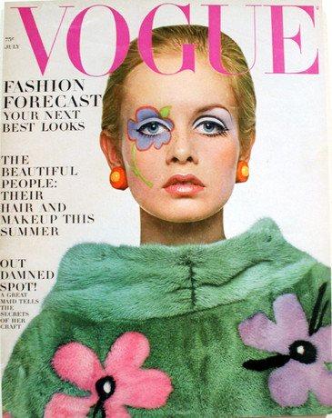 В начале 1960-х настал звездный час Твигги. У модели с телом подростка, большими глазами и веснушками отбоя не было от предложений. В течение одного года она успела дважды побывать на обложке Vogue (1967 год)