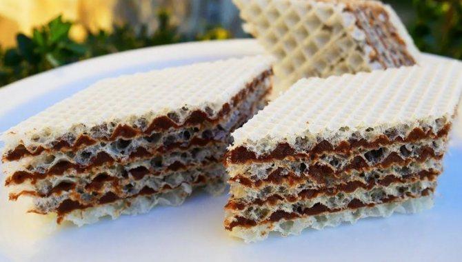 Вафельный торт с вкусной шоколадно-лимонной начинкой