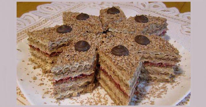 Вафельный торт с вкусным кофейным кремом