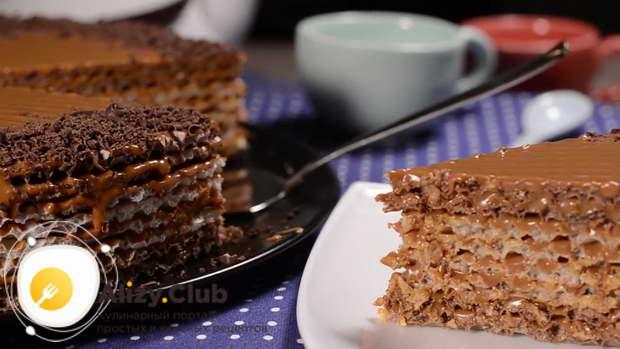 Вафельный торт со сгущенкой вареной рецепт