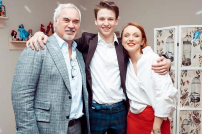 Валерий Меладзе с женой и сыном Костей