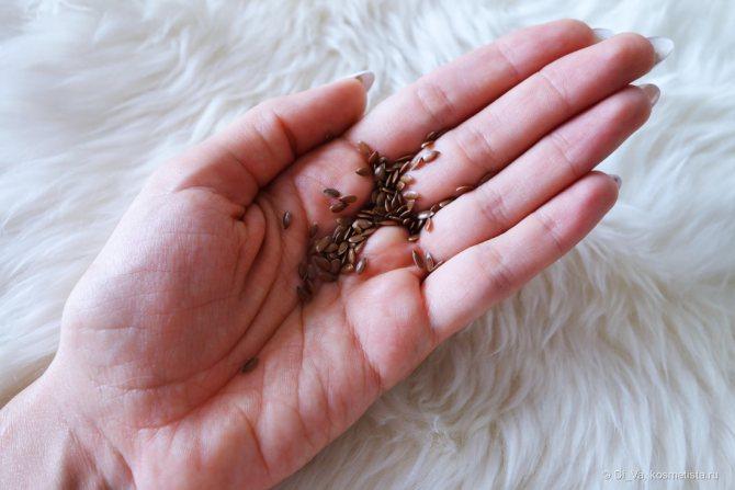 Вариант домашнего ламинирования волос с отваром семян льна