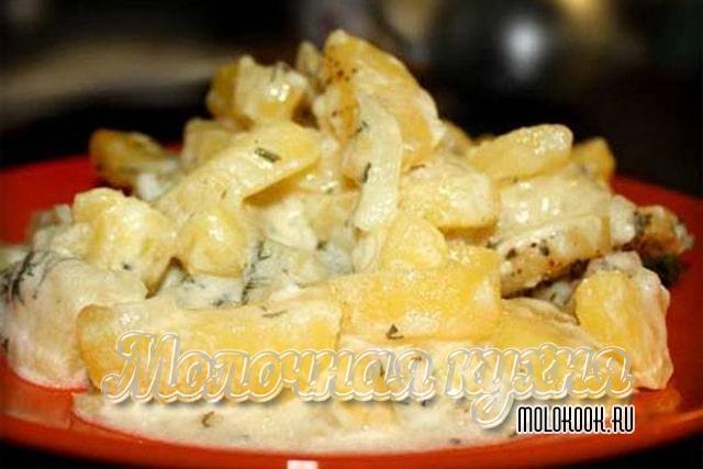 Вариант запекания картошки в сметане