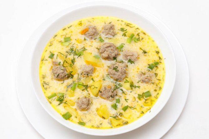 Варианты сырного супа