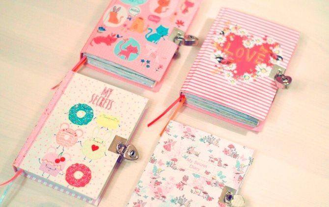 варианты украшения дневника
