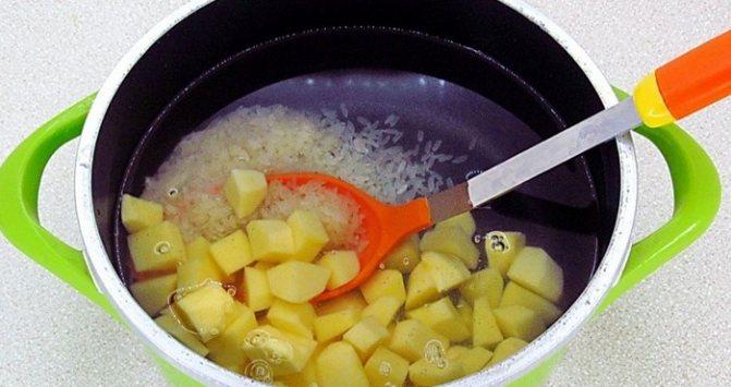 варка риса и картофеля