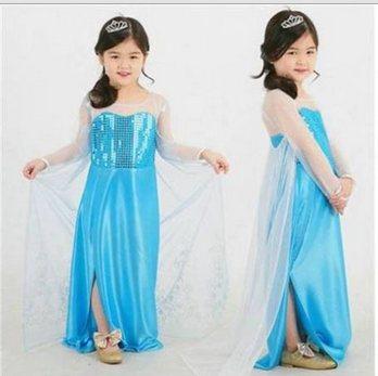 Вечернее платье голубого цвета для девочек 10 лет
