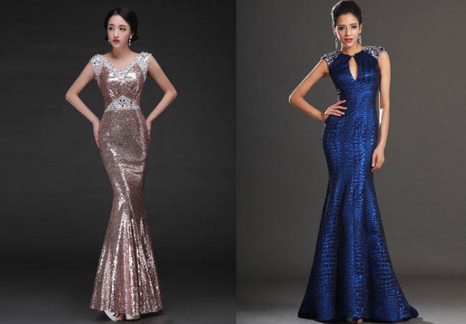 Вечернее платье рыбка на Новый Год 2020