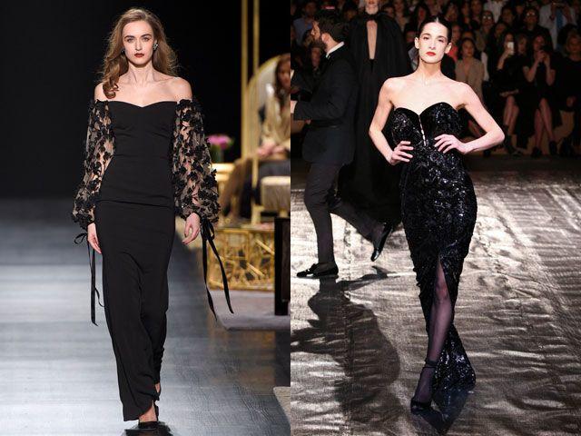 Вечерние платья черного цвета осень-зима 2019-2020