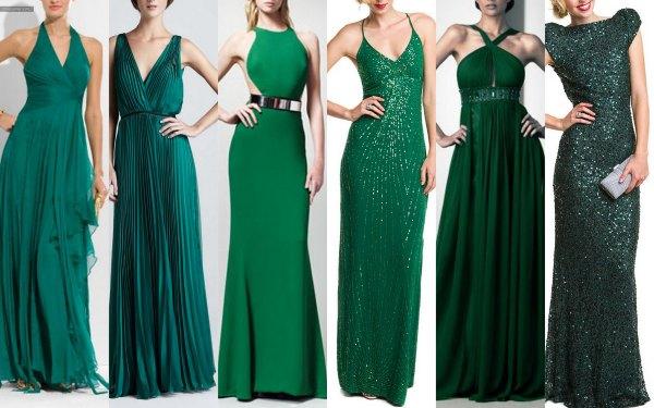 Вечерние платья изумрудного цвета