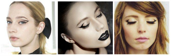 Вечерний макияж: геометрические стрелки