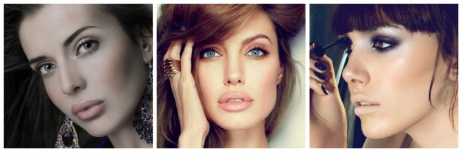 Вечерний макияж:nude lips
