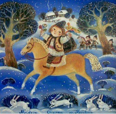 Вечером на Старый-Новый год щедруют, а уже утром следующего дня, в Васильев день, радуют хозяев посевалками