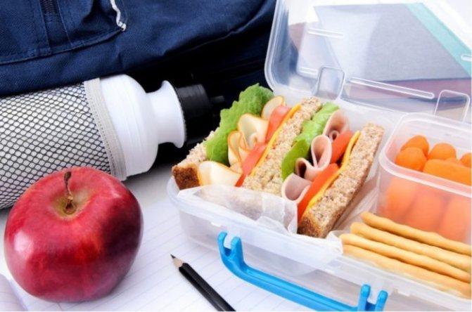 вкусные и полезные непортящиеся продукты в контейнере, собраны для путешествия