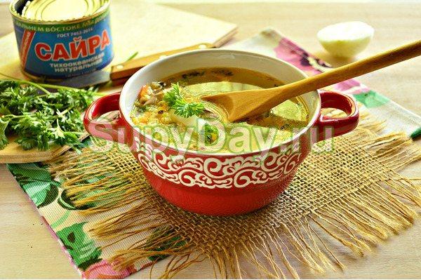 Вкусный рыбный суп из консервы