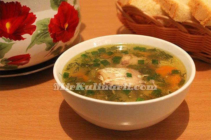 Вкусный суп из рыбных консервов